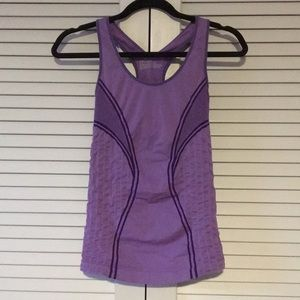 Zella Purple Exercise Racerback Tank Small